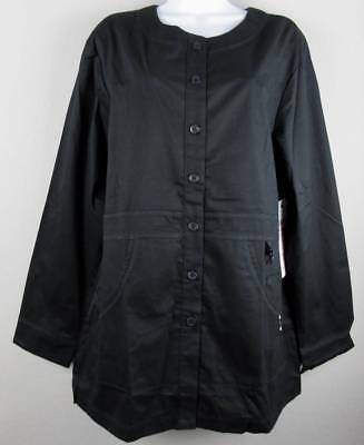 ef6532a27ef Koi Kathy Peterson Black Olivia Jacket Lab Coat L Large Scrub Top New