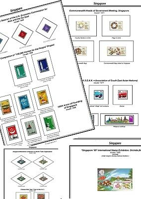 Print your own Singapore Stamp Album, fully illustrated and annotated