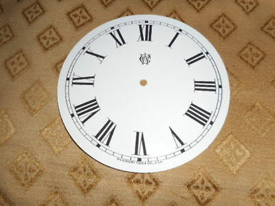 """For American Clocks-Waterbury Paper Clock Dial- 5"""" M/T- GLOSS WHITE-Parts/Spares"""