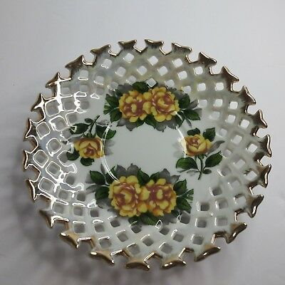 Original  Napco  Hand   Painted  Saucer  Idd  181  Mint  Condition