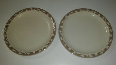 "Vtg Syracuse China Hotel Diner Restaurant ware 9"" plate lot set Airbrushed retro"