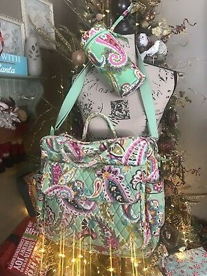 Vera Bradley Convertible Baby Diaper Bag With Bottle Caddy In Tutti Frutti Print
