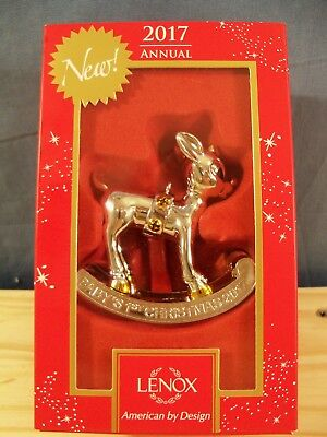 Lenox 2017 Rudolph The Red Nosed Reindeer Baby's 1st Christmas Ornament - NIB