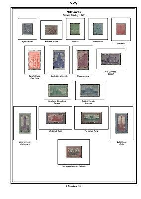 Print your own India Stamp Album, fully illustrated and annotated