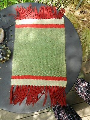 Heavy Weave,small..navajo,native ,wool Rug,9 1/4 Inch,x,17 ,perfect Condition