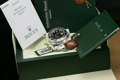 Rolex Men's 40mm Submariner Oyster Perpetual DATE Black Watch with BOX & PAPER