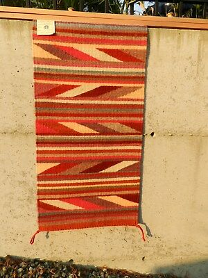ANNIE SIIER,TRANSITIONAL,Rug, Navajo Handwoven,17 in x 35 in,CROWNPOINT,RECEIPT
