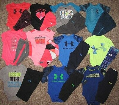 Under Armour Baby Set Boy Girl Bodysuit Pants Coverall 0-3,3-6, 6-9, 9-12 Months