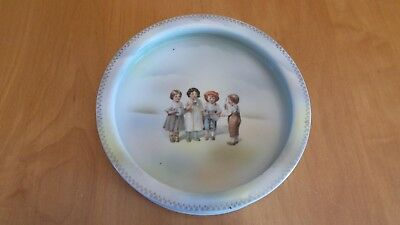"""Antique BABY DISH or BOWL """"Children band Playing Instruments"""" (Netherlands?)"""