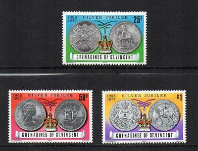 Grenadines of St. Vincent - 1977 Queen Elizabeth II Silver Jubilee, MNH Set