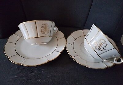 Tasses A The En Porcelaine Fine De Limoges