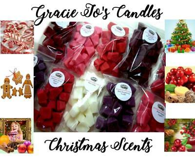 40 pc Candle Wax Melts 8 oz Mini Chunks Crumbles CHRISTMAS Scents Home Fragrance