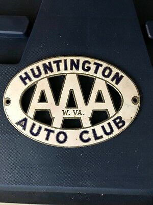 Vintage AAA Motor Club Huntington WV