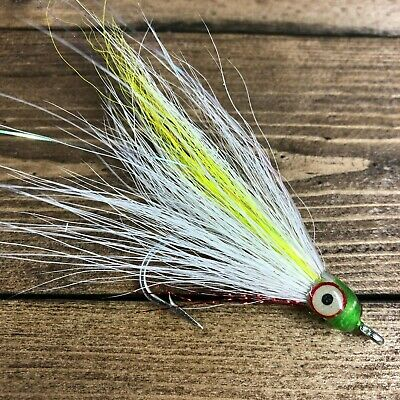 Big Eye Shad Teaser Flies Size 4//0 Saltwater Fishing Striped Bass Lake Cod 5 pcs