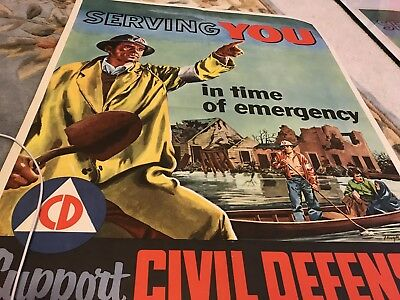 1956 SERVING YOU in time of emergency Support Civil Defense Sept 9-15