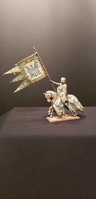 """St. Petersburg 54mm metal mounted KNIGHT (eagle) by """"Amber"""" with banner!"""