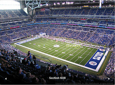 2 New York Giants Indianapolis Colts Tickets 12/23 Front Row Lucas Oil Stadium