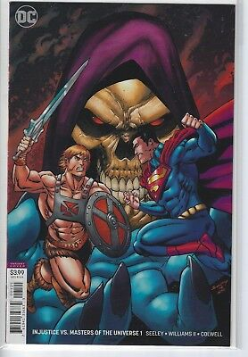 Injustice Vs. Masters of the Universe #1 Seeley Variant He-Man Superman DC Comic