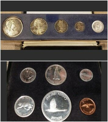 1967 Royal Canadian Mint Ottawa Proof Like Set + 1967 Set No Gold Coin