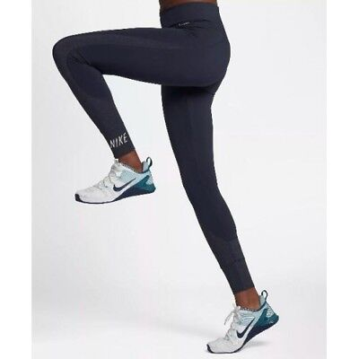 8714771ba2724 $60 NEW Nike Power SCULPT VICTORY TIGHT FIT Tights 897517 Obsidian S FULL  Length