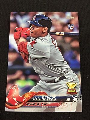 Rafael Devers Rookie Topps Boston Red Sox Rc 2018 Baseball Card