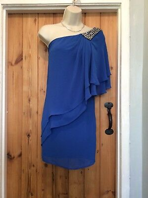 Next Electric Blue  One Shoulder  Tunic Dress Size 10