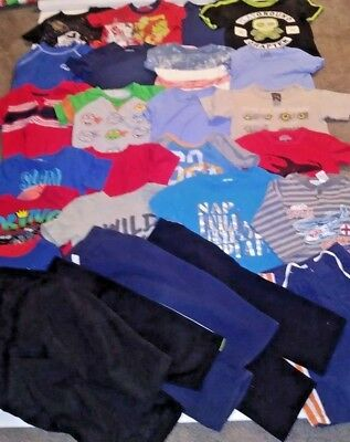 Huge lot of toddler boys clothes size 2T 3T 26 items total shirts pants