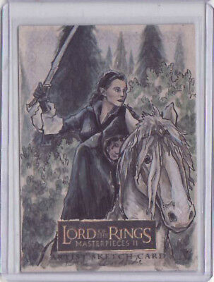 Lord Of The Rings Lotr Masterpieces 2 Brent Woodside Arwen & Frodo Sketch