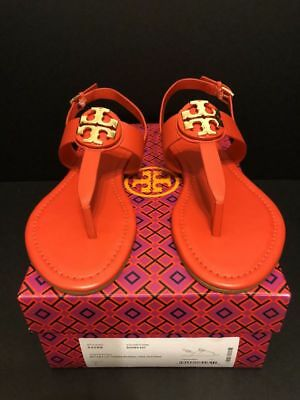 52a2e944c7a TORY BURCH BRYCE Sandals in Royal Tan Leather Size 7.5 New In Box ...