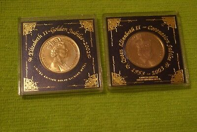 Coronation Jubilee and Golden Jubilee Commemorative Boxed Coins.