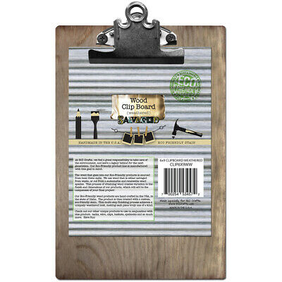 """Salvaged Wood Clipboard 6""""X9""""-Weathered - 2 Pack"""