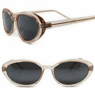 4e7afec142ea Genuine Vintage Old Fashioned Deadstock Classic Womens Brown Cat Eye  Sunglasses