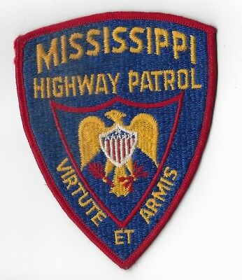 Mississippi Highway Patrol Police Patch older version