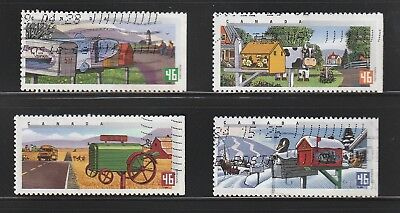"""Canada  1991 # 1849 - 1852  """"  Rural Mailboxes  """"  Set of 4  Used  F"""