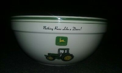 John Deere Mixing Bowl 9 Inch Nothing Runs Like A Deere Logo Tractor Collector,