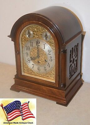 Seth Thomas Restored Grand Antique Westminster Chime Clock 73-1921 In Mahogany
