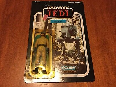 Vinatage AT-ST Driver 77 back Star Wars Return of the Jedi figure MOC 1983