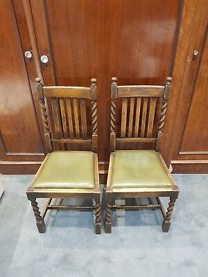 Pair of Handmade Oak Chairs with lovely patina