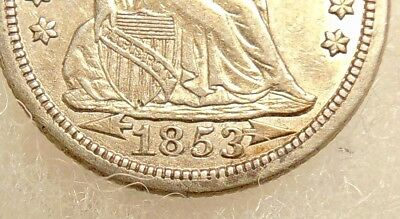 1853 (Arrows) Liberty Seated Dime - Scarce RPD FS-301 - Very Nice Looking Coin