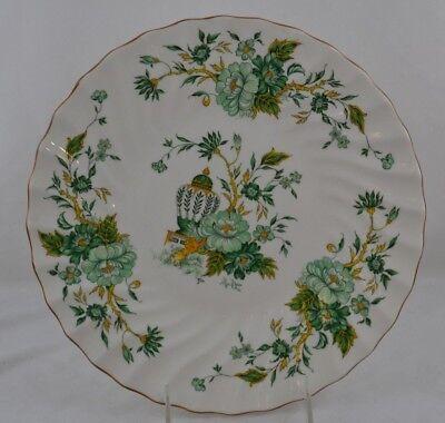 Royal Crown Staffordshire Kowloon Dinner Plate Swirl Green Flowers