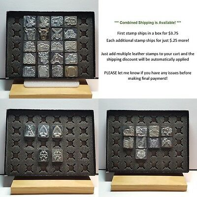 Vintage USA Made CRAFTOOL 2D 3D Leather Stamps w/ $.25 Combined Shipping