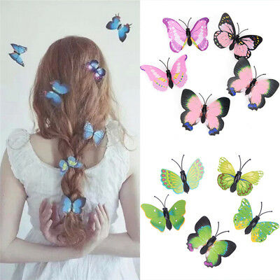 5pcs Butterfly Hair Clips Bridal Hair Accessories Wedding Photography Costume JO