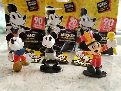 Mickey Mouse 90 Years of Magic Collectible Mini Figures set of 3 of 11 Disney