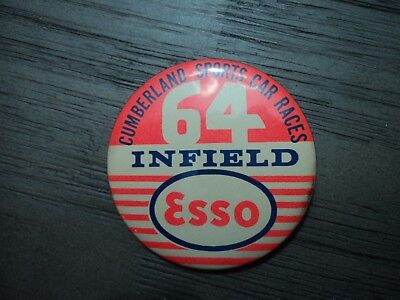 Rare 1964 Esso Gas Advertising Pin Cumberland Maryland Sports Car Race Infield