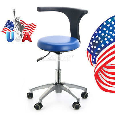 Adjustable Mobile Chair Dental Dentist Doctor Assistant Stool PU Hard Leather ag