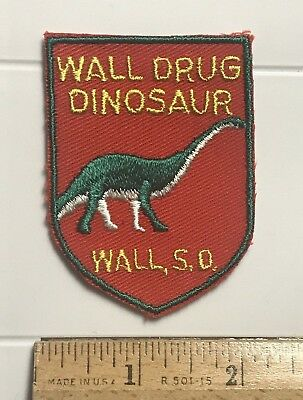 Wall Drug Dinosaur South Dakota SD Long Neck Souvenir Embroidered Patch Badge