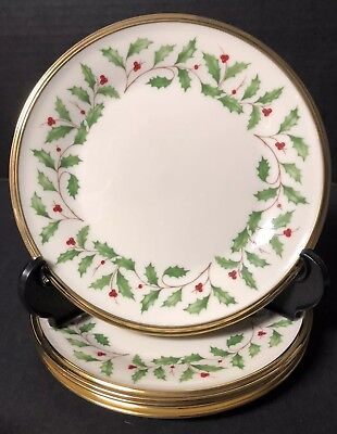Lenox HOLIDAY Lot Of 4 Bread & Butter Dessert Plates Excellent