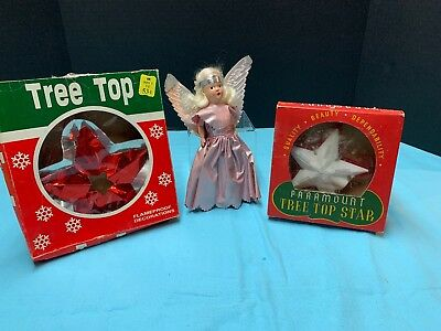 Lot Of Three Vintage Christmas Tree Toppers...LQQK!