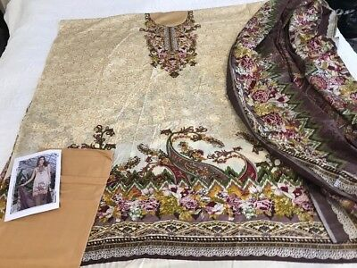 Pakistani designer dawood  LAWN COLLECTION UN-STITCHED SHALWAR KAMEEZ SUIT Asian