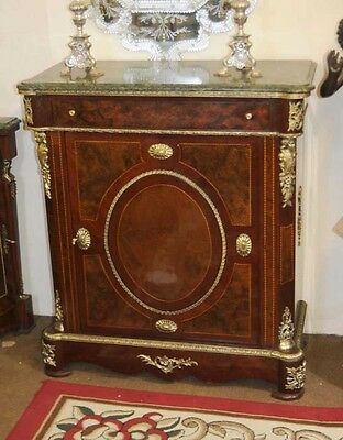 French Empire Cabinet Inlay Credenza Sideboard Ormolu Fixtures